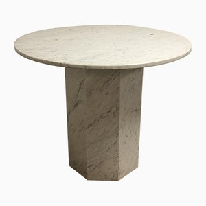Vintage Italian Carrara Marble Dining Table