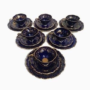 Bavarian Porcelain Tea Set by Lindner Kueps, 1950s