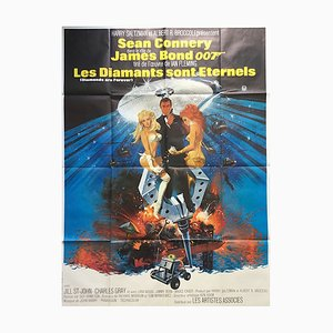French James Bond Diamonds Are Forever Poster, 1971
