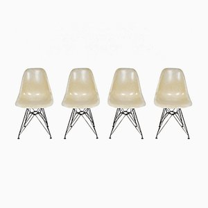 Eiffel Base Side Chairs by Charles & Ray Eames for Herman Miller, 1970s, Set of 4