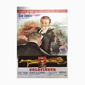 Póster francés de James Bond Goldfinger de Jean Mascii ,, 1964