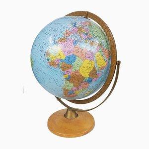 Dänischer beleuchteter Globus von Scan Globe, 1976