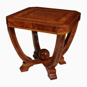 Art Deco Burr Yew Coffee Table, 1930s
