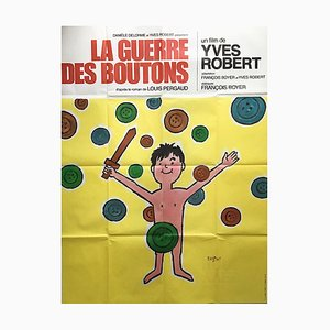 French The War of The Buttons Poster, 1962
