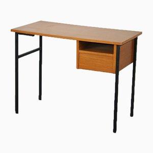 Metall und Holz Schreibtisch, 1950er
