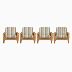 Mid-Century Lounge Chairs, 1970s, Set of 4