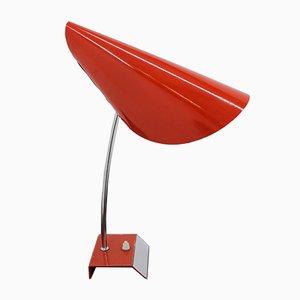 Lámpara de mesa Mid-Century roja de Josef Hurka para Napako, años 50