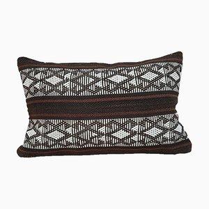 Housse de Coussin Kilim Tissé Lumbar avec Motif Aztèque de Vintage Pillow Store Contemporary