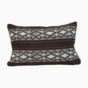 Woven Kilim Lumbar Pillow Cover with Aztec Pattern from Vintage Pillow Store Contemporary