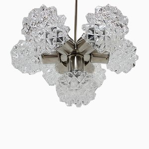 Mid-Century Glass Chandelier from Kamenický Šenov, 1960s