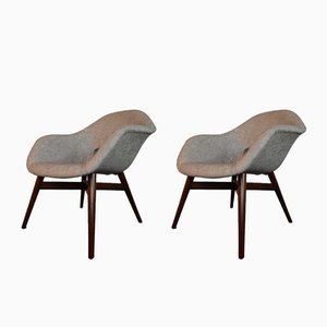 Mid-Century Czech Shell Chairs by Miroslav Navratil for Česky Nabytek, 1960s, Set of 2