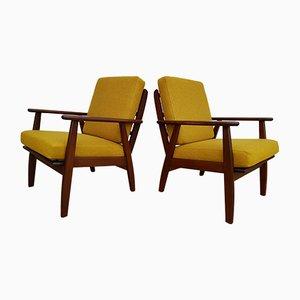 Danish Wool Easy Chairs, 1960s, Set of 2
