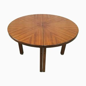 Rosewood & Brass Extending Dining Table from Ico Parisi M.I.M., 1960s