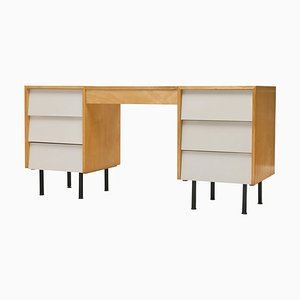 Maple Louvered Vanity or Desk by Florence Knoll, 1950s