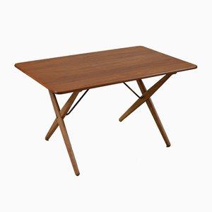 Table Basse avec Brancards en Laiton par Hans Wegner pour Andreas Tuck, 1950s