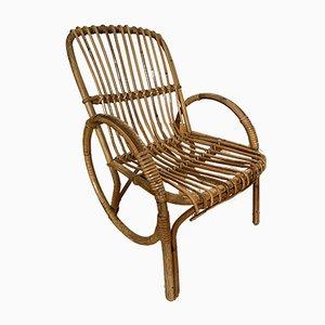 Chaise pour Enfant Mid-Century en Bambou et Rotin