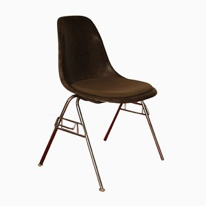 DSS Fiberglass Chrome Stacking Chair by Charles & Ray Eames for Herman Miller, 1980s
