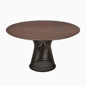 Tavolo da pranzo in palissandro e bronzo di Warren Platner per Knoll, anni '60