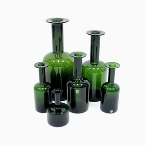 Vases by Otto Brauer for Holmegaard, 1960s, Set of 6