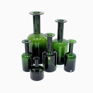 Vases par Otto Brauer pour Holmegaard, 1960s, Set de 6