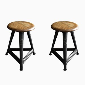 Industrial Stools by Robert Wagner for Rowac, 1920s, Set of 2