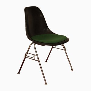 Vintage DSS Fibreglass Chrome Stacking Chair by Charles & Ray Eames for Herman Miller