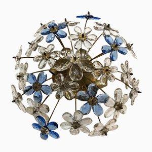 Plafón floral vintage de cristal de Murano