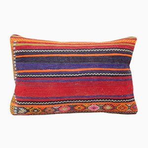 Turkish Woven Kilim Lumbar Pillow Cover from Vintage Pillow Store Contemporary