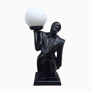 Lampe de Bureau en Porcelaine, 1980s