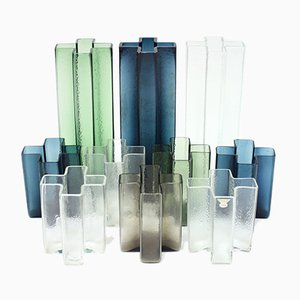 Cross Vases by Bodil Kjaer for Gullaskruf, 1960s, Set of 10