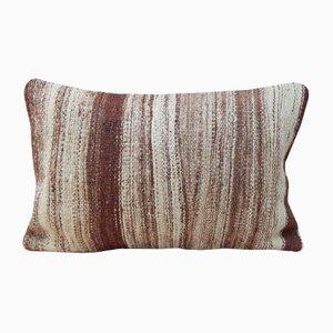 Grauer Kissenbezug aus Leinen und Wolle von Vintage Pillow Store Contemporary