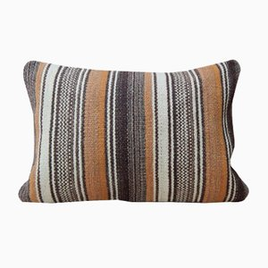 Organic Natural Wool Kilim Throw Pillow Cover from Vintage Pillow Store Contemporary