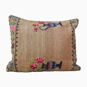 Rose Aubusson Kilim Housse de Coussin de Vintage Pillow Store Contemporary