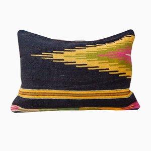 Gelber Kelim Lumbar Kissenbezug von Vintage Pillow Store Contemporary