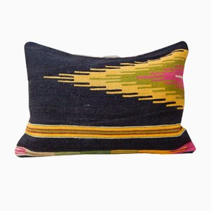 House de Coussin Jaune Kilim Lumbar from Vintage Pillow Store Contemporary