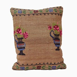 French Kilim Throw Cover from Vintage Pillow Store Contemporary
