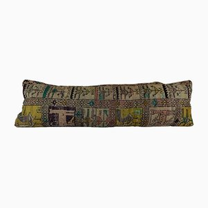 Bohemian Woven Kilim Pillow Cover with Animal Pattern from Vintage Pillow Store Contemporary