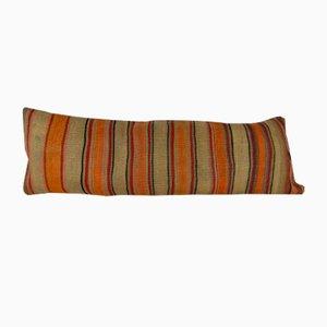 Gestreifter handgewebter Kelim Kissenbezug aus Wolle von Vintage Pillow Store Contemporary