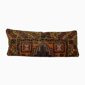 Federa bohemien in lana intrecciata a mano di Vintage Pillow Store Contemporary