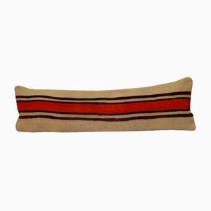 Langer handgewebter Kelim Kissenbezug aus Wolle von Vintage Pillow Store Contemporary