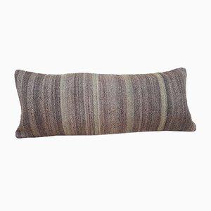 Grauer handgewebter Kelim Kissenbezug von Vintage Pillow Store Contemporary