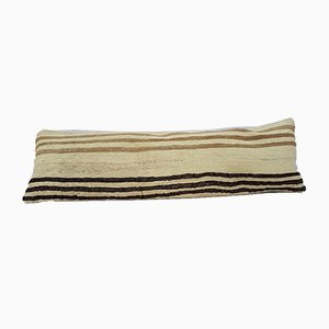 Handwoven Bohemian Dyed Wool Kilim Pillow Cover from Vintage Pillow Store Contemporary