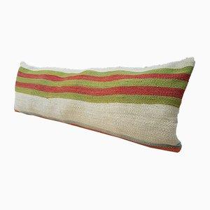 Langer gestreifter Bohème Kelim Kissenbezug von Vintage Pillow Store Contemporary