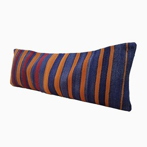 Bohemian Orange Wool Kilim Pillow Cover from Vintage Pillow Store Contemporary