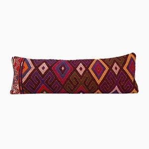 Federa Kilim multicolore intrecciata a mano di Vintage Pillow Store Contemporary