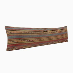 Muted Color Handwoven Bohemian Striped Kilim Pillow Cover from Vintage Pillow Store Contemporary