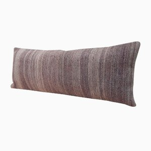 Handwoven Grey Kilim Pillow Cover from Vintage Pillow Store Contemporary
