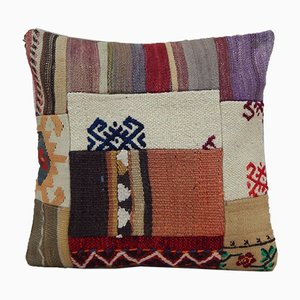 Handmade Kilim Pillow with Patchwork from Vintage Pillow Store Contemporary