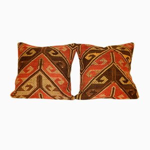 Handwoven Wool Kilim Pillow Covers from Vintage Pillow Store Contemporary, Set of 2