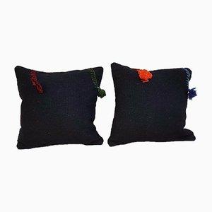 Fundas para almohadas hechas con kilim marroquí tejido a mano de Vintage de Pillow Store Contemporary. Juego de 2